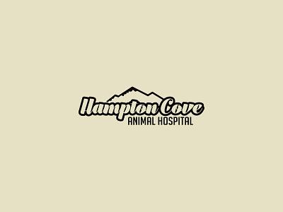 Hampton Cove Animal Hospital affinity designer thirtylogos logo