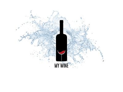 My Wine affinity designer thirtylogos logo