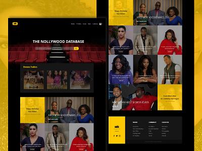 Nollywood Movie Database nigeria uidesign imdb movie concept website design affinity designer