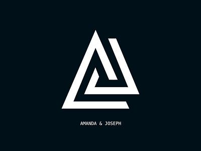 Amanda And Joseph Logo design illustration logo affinity designer
