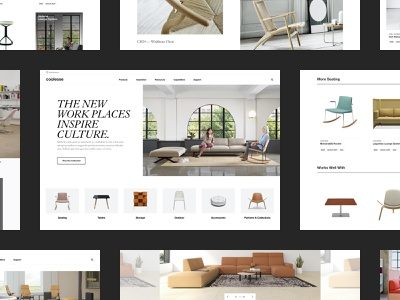 Coalesse furniture design website webdesign