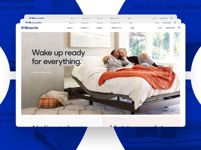 Reverie Redesign website beds ecommerce mattress webdesign