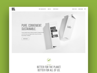 Boxed Water Is Better Redesign boxed water traffic ux ui website webdesign ecommerce