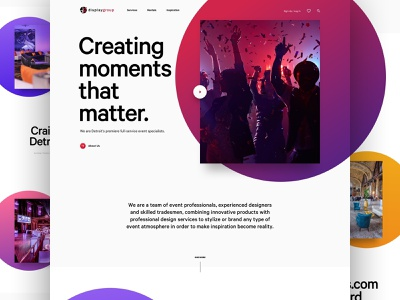 Display Group - Unused Concept website ui design webdesign