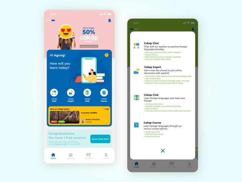 CAKAP Language Learning App Redesign education language e-learning learning ux case study indonesia app design ui ux design uiux mobile app digital product design