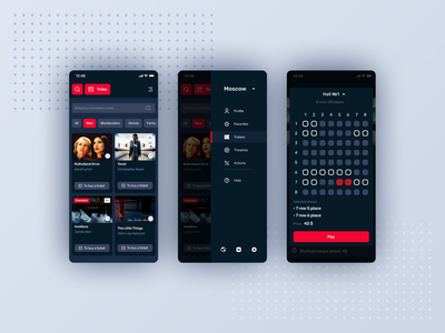 Articket ticket booking movies kino ios app design ios app uxdesign uiux mobile app design mobile app iphone mobile interface design ui ux ios app design app