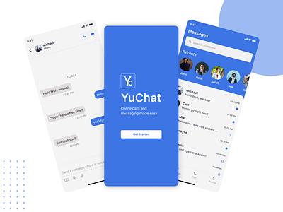 Chat App - YuChat mobile design clean ux concept design ui chatting chatting app message chat message app chat app