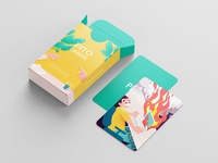 Pito - playing cards character critique ego salary conflict hygiene procreateapp procreate procrastination deadline performance challenge game cards design prints cards roleplaying playingcards illustraion 2d
