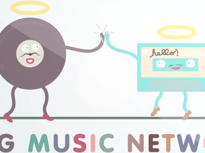 MOG Music Network illustration branding