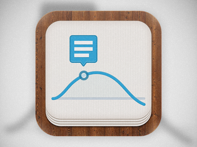 1st icon for Analyst icon ios analyst stock stock market news wood paper graph
