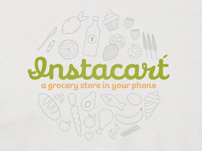 Instacart Shirt shirt instacart cursive food vegetables