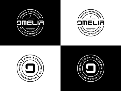 O'Melia Creative Co. Brand Assets brand design branding design brand identity seal badge logo badge logotype logo design typography logodesign logo icon brand branding vector graphicdesign graphic design