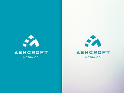 Ashcroft Media Co. Logo brand design abstract minimalist logos monogram film logo design videography photography brand identity identity design branding logo icon brand graphic design