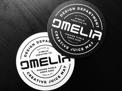 O'Melia Creative Juice Mats studio coasters coaster wordmark brand identity brand design typography logodesign logo icon brand branding vector graphicdesign graphic design