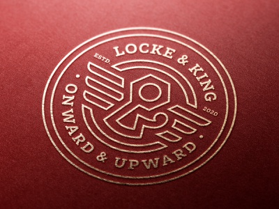 Locke & King Brand Seal seal ampersand badge design brand design brand identity logodesign logo icon brand branding graphicdesign graphic