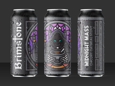 Brimstone Brewing Co. Midnight Mass Beer Label beer art stout label design label beer can beer illustration vector graphicdesign graphic design