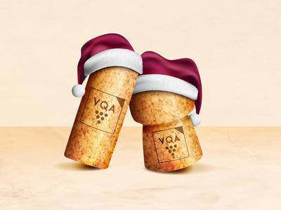 Ontario Craft Wineries 2019 Holiday Card Illustration