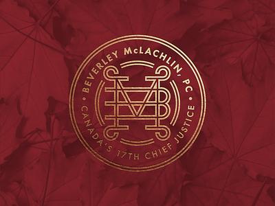 Beverley McLachlin Commemorative Logo typography branding icon logo graphicdesign vector graphic design