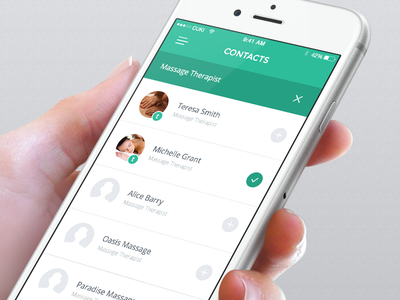 Contacts mobile ui ux iphone iphone6 ios ios8 ios7 chat app mobileapp