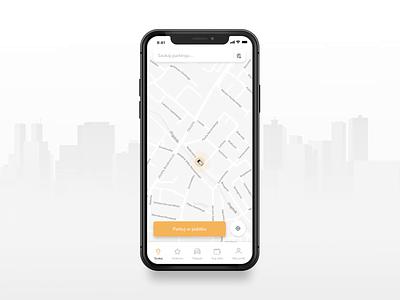 Parking App design clean uiux interface mobile spots traffic car ux ui navigation app parking parking app