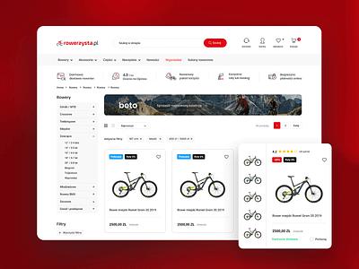 Bike shop bikes bike ux design ui design uiux ux ui e-commerce website website design webdesign website web shopify black red prestashop shopping e-commerce ecommerce shop