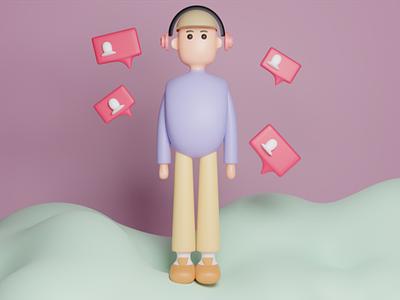 Human 3D modeling social media music cycles render 3d character 3dmodeling human b3d blender 3d blender 3d