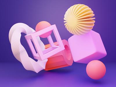 Practice lighting textures colours objects design 3dlighiting lighting 3dartwork 3d