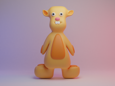 Teddy bear 3dartworrk 3d b3d blender teddy bear design