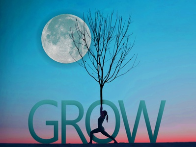Grow tree nature digital type photoshop typography graphic design design blue artwork illustration design art illustration art illustration