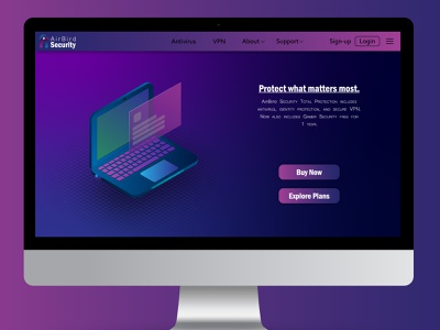 AirBird Security Landing Page logo design design digital art landing page brand identity graphic design branding logo