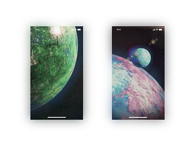 Planetary Wallpapers space planet mockup wallpaper phone ui b3d affinity 3d blender3d blender illustration design art