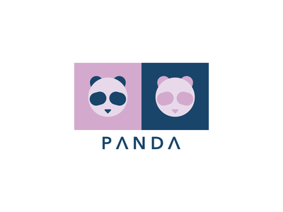 Panda Logo lettering panda logo panda vector branding logo affinity minimal illustration design art
