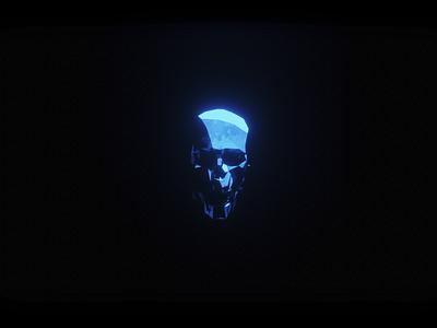 Skull (Stylized Shading) stylized dark blue skull b3d 3d minimal blender3d blender illustration design art