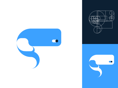 Whale Logo logo minimal illustration design art