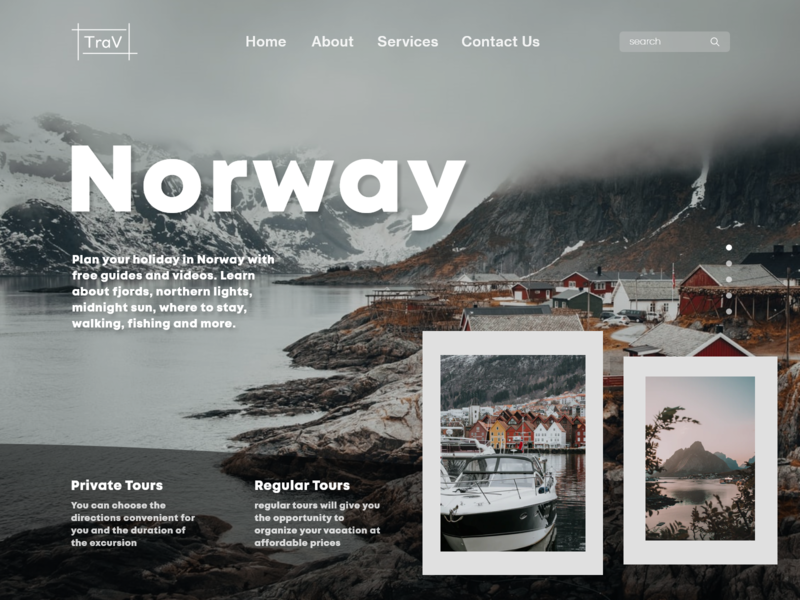Norway - Travelling website UI concept