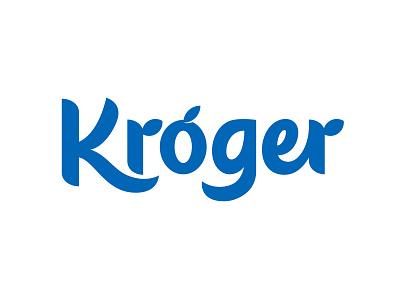 Kroger Revamp produce fresh logo wordmark custom lettering lettering vector grocery kroger