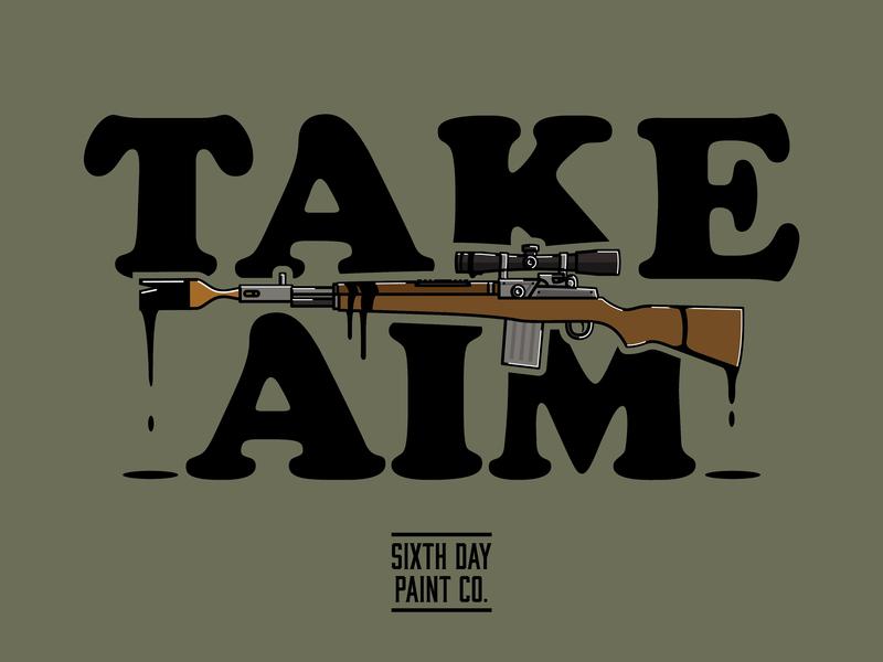 Sixth Day Paint Co. Apparel 4 vector illustration illustration logo boutique apparel veteran military paint commercial industrial custom artwork vector