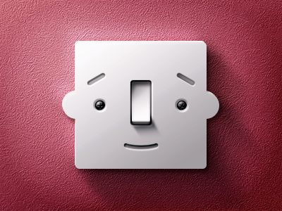 Happy Button wall plastic face happy button