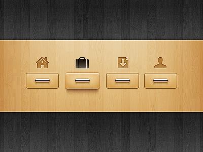 Navigation wood drawer idea navigation