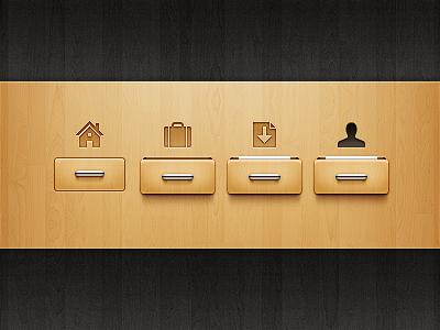 Navigation Refined drawer wood navigation
