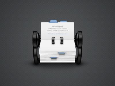 Rolodex plastic paper rolodex