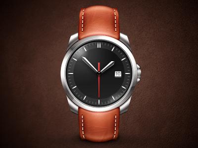 Wrist Watch metal leather time watch