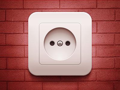 Socket socket wall wall metal plastic