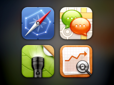 Mix iOS Icons index price flashlight location chat compass medical ios