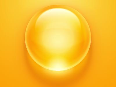 Bubble gloss bubble yellow yolk egg