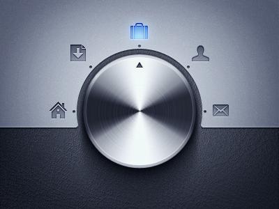 Navigation Knob icons leather metal knob navigation