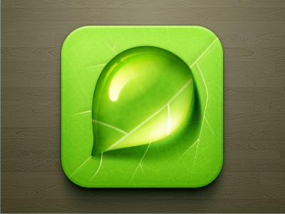 Droplet iOS ios ios green green reflection water leaf droplet