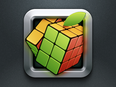 Apple Cube frame metal cube rubik apple ios