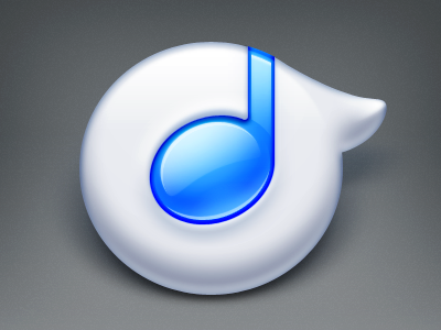 Rdio osx soft blue note bubble music rdio