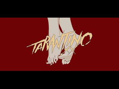 Quentin Tarantino foot director movie design plant typography illustration